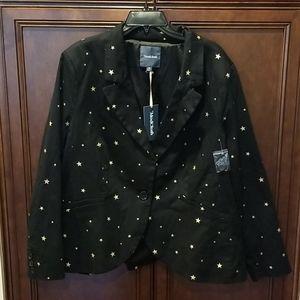 Game Changer Star Twill Jacket Black Gold Sz 3X